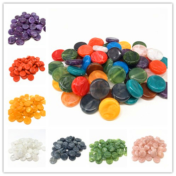 New 20pcs/lot  15mm Round Acrylic Beads Spacer Loose For Jewelry Making DIY Bracelet #QA