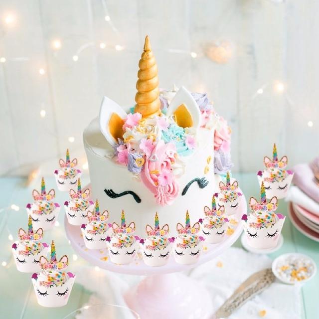 Fengrise Nette Einhorn Kuchen Topper Rosa Einhorn Ballon Junge