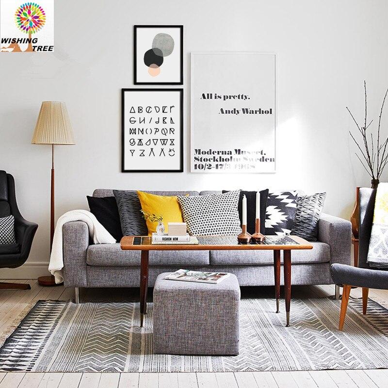 Wohnzimmer Moderne Print Poster Malerei Wohnkultur Motivierend Zitieren Inspirational Wand Kunst Bild Geometrischen AbstraktionChina