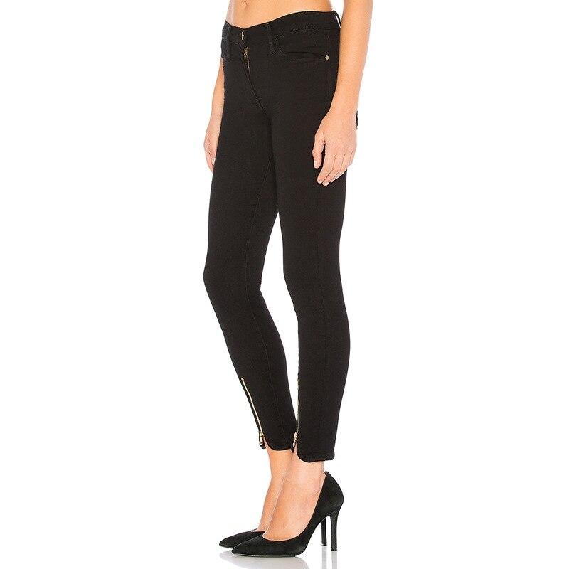 Бесплатная доставка, 2019, длинные штаны для женщин, расклешенные брюки, 25 30 размер, джинсовые женские длинные тянущиеся зимние и осенние джин... - 2