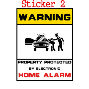 Image 2 - 1pcs Security Warning Stickers 24 Hours Safety Alarm Warning Decal Signs Surveillance Camera Mark CCTV Alert Sign Stickers
