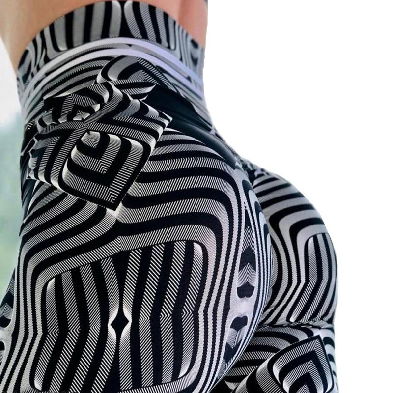 2019 Summer Styles Fashion Hot Women Hot Leggings Digital Print Fitness Sexy 3D Metal Corrugated Digital Printing Shipping