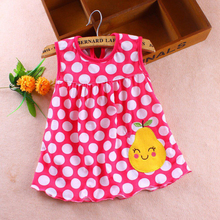 Regular Dot Sleeveless Baby Girl Dress