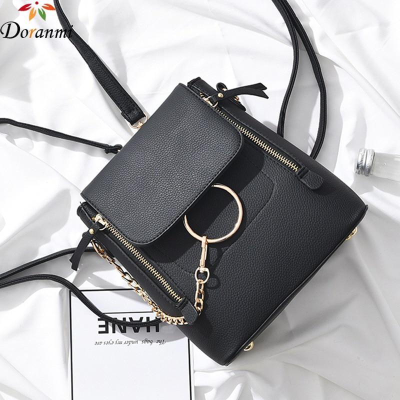 DORANMI Luxury Brand Designed Backpack 2019 Hot Small Schoolbags Women's Bagpack Shoulder Backpacks Leather Mochila DJB672