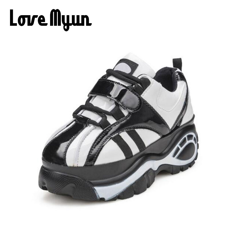 ladies high platform sneakers shoes 2018 fashion casual womens trainers zapatillas mujer platform walking shoes women SC-01 2017brand sport mesh men running shoes athletic sneakers air breath increased within zapatillas deportivas trainers couple shoes