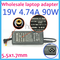 19 В 4.74A Ноутбук Ac Адаптер Питания для Acer AP.09000.001 HIPRO HP-A0904A3 HP-OL093B13P PA-1900-24 PA-1900-04 5.5x1.7 мм