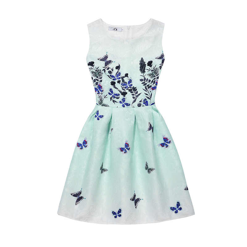 89617cba681c1 ... Girls Dresses 2018 Summer Sleeveless Dress for Girls Art Butterfly  Flower Teens Kids Princess Dresses Birthday ...