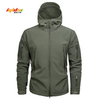 IGLDSI Brand Clothing Autumn Mens Military Camouflage Fleece Jacket Army Tactical Clothing Multicam Male Camouflage Windbreakers