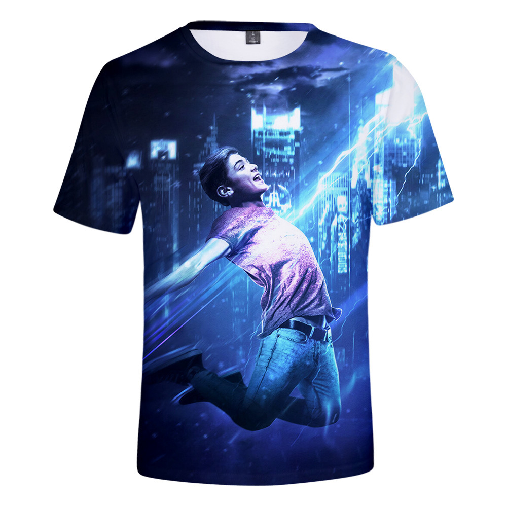 Kids Boys Shazam 3D Printed T-shirts Clothes Ball Halloween Costumes Fashion Short Sleeves T shirts Tops Tee