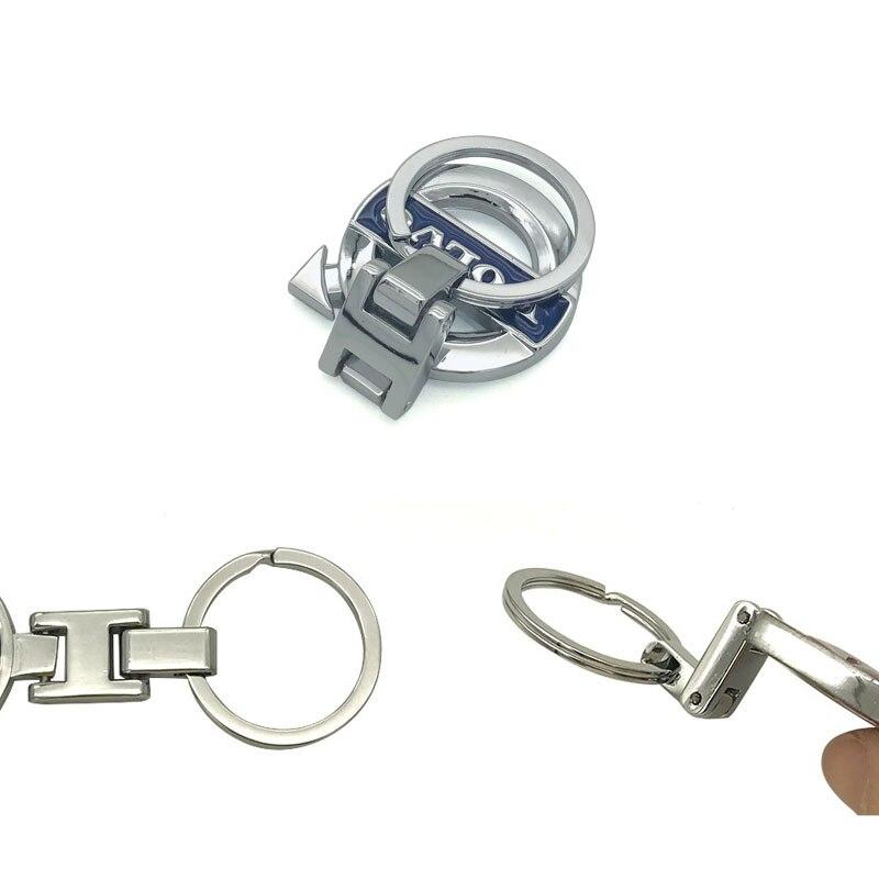 for Volvo SPIRIOR Keychain Zinc Alloy Key Chain Car Key Ring Luxury car styling zinc alloy key chain pendant