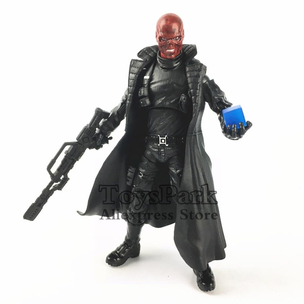 "Custom Marvel Legends 6/"" Red Skull Figure 10th Head Cosmic Cube Tesseract Weapon"