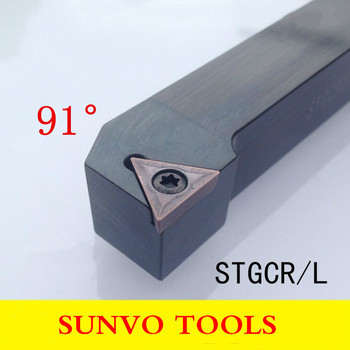 STGCR STGCL 2020K16/2020K11CNC Screw Fastening External Turning Holder Use TCMT TCGT160404/160408/110204/110208 CNC Insert image