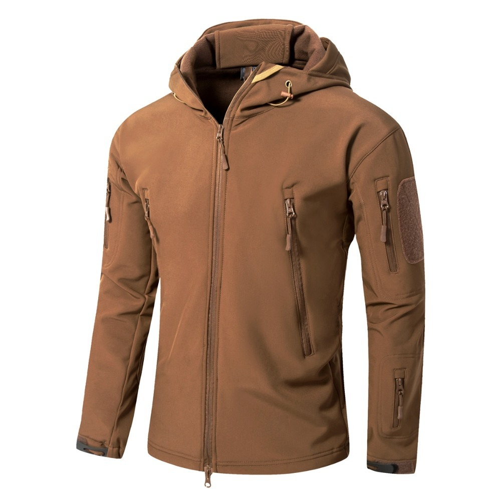 XS-5XL 145cm Bust Men Hunting Hooded Camouflage Jacket Woman Camping Climbing Coat V5.0 Tactical Outdoor Shark Skin Softshell