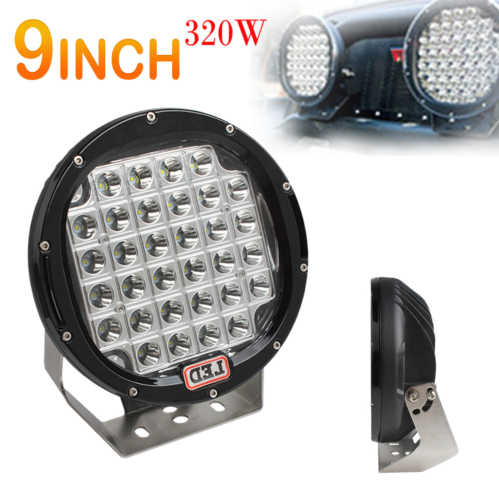 Led Lights Vs Hid Lights For Cars: 9inch 320W High Temperature Resistance LED Work Driving