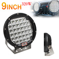 9inch Rounded 32xLED Car Worklight Spot / Flood Light Vehicle Driving Lights for Offroad SUV / ATV / Truck / Boat