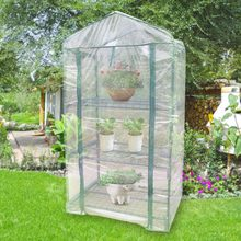 Mini Garden Greenhouse Cover Warm Clear PVC Cover for Outdoor Growing Seedlings Tending Potted Plants Flower Greenhouse Cover(China)