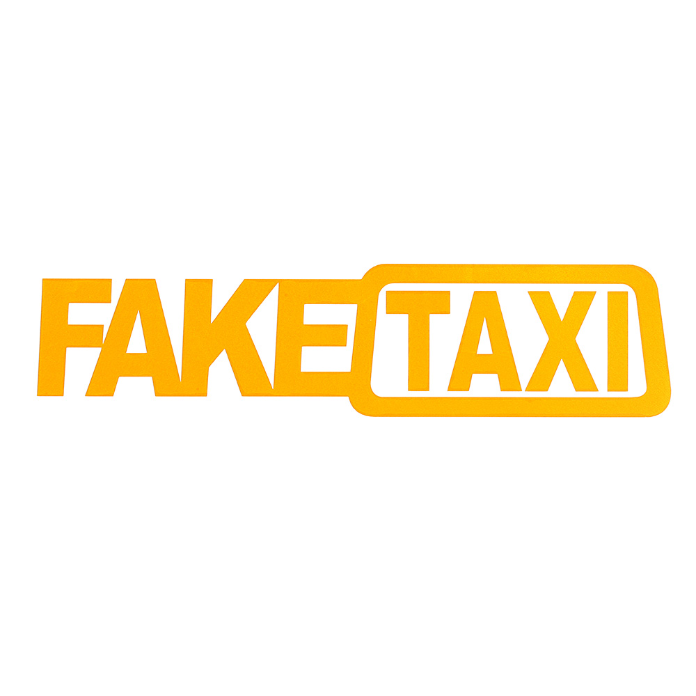 2pcs Fake Taxi Auto-styling Self-sticking Stickers Imitating Taxi Stickers Interesting Vinyl Window Stickers