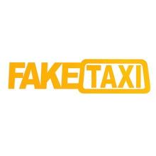 2pcs מזויף מונית אוטומטי סטיילינג עצמי דבק מדבקות חיקוי מונית מדבקות מעניין ויניל חלון מדבקות