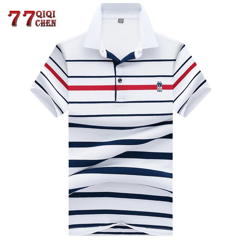 Business   Polo   Male High Quality Cotton Summer Short Sleeve   Polo   Shirt British Style Casual Men's Fashion Lapel Stripe   Polo   Shirt