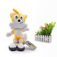 Sonic Soft Doll Yellow Cartoon Animal Stuffed Peluche Plush Toys Figure Dolls Christmas Gift 20 cm