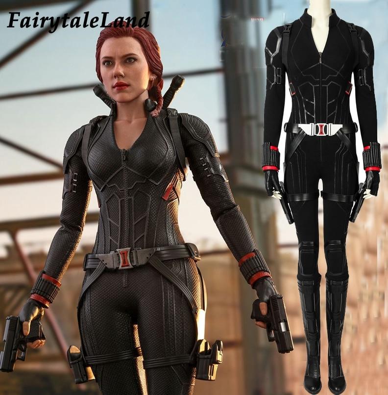 Avengers Endgame Black Widow Cosplay Props Halloween Female Costume Avengers 4 Natasha Romanoff Full outfit Black Widow Bodysuit