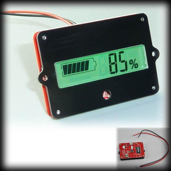 by dhl or ems 100pcs Capacity Tester Indicator for 12V 48V Lead acid Lithium Cell LiPo