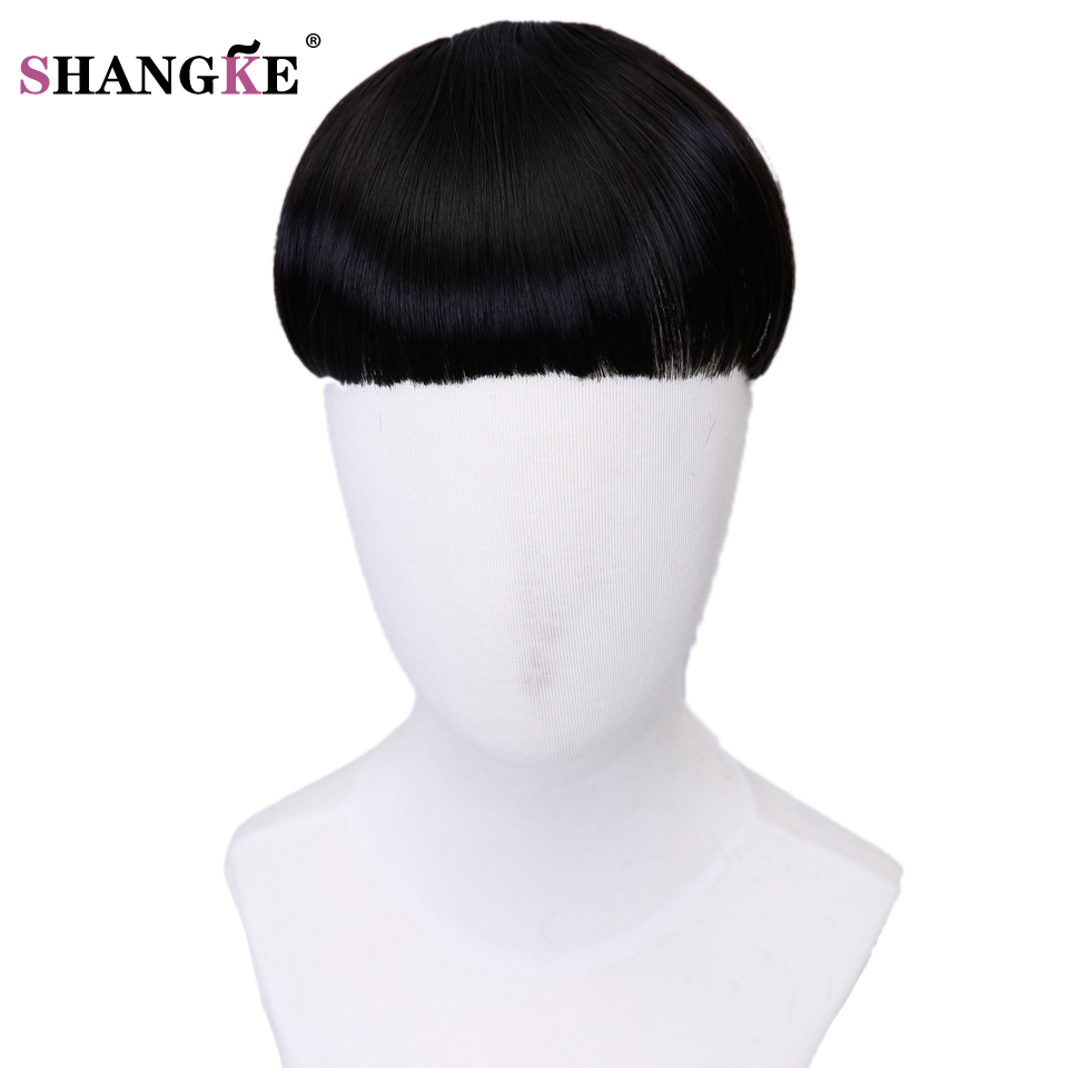 SHANGKE Clip in Bangs Heat Resistant Natural Hairpieces Clip In Hair Extensions Multi Color Hair Fringe Tidy Neat Hair Bangs