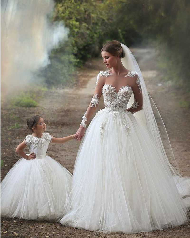 Dresses For Flower Girls For Weddings: Cinderella Special Occasion Lace First Communion Dress