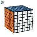 ¡ Venta caliente! 2016 Marca 7-capas Shengshou Cubo Mágico 7x7x7 Profesional 7.7 cm 7*7 Cube (PVC Sticker) Blanco/Negro Educativos Juguete