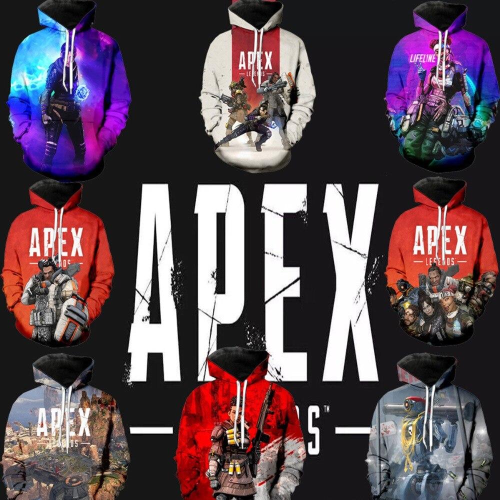 Apex Legends Cosplay Costumes 3D Print Hoodies Sweatshirt Long Sleeve Women/men Clothes Sale Apex Legends Casual Kpop Plus Size