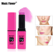 Music Flower 6 Colors Face Blush Cream Stick Makeup Bronzer Rouge Mineral Long-lasting Blusher Set Make Up Tool все цены