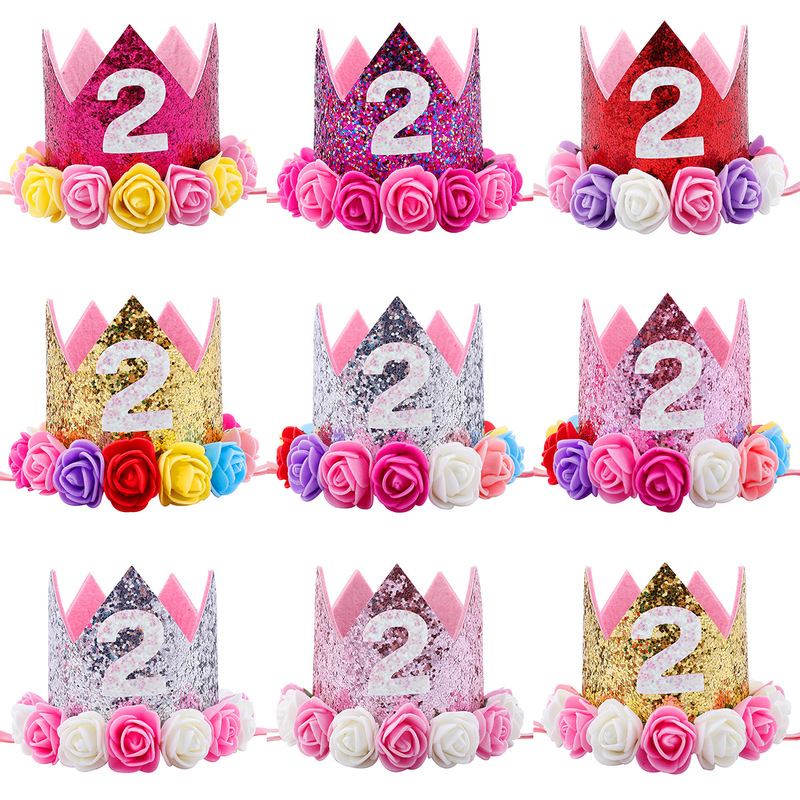 Shopkins Party Hats 8ct Princess Crown My First Birthday Boy Girl I Am One Happy 1st 2nd