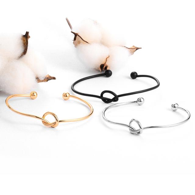 Elegant Open Cuff Knot Bracelet