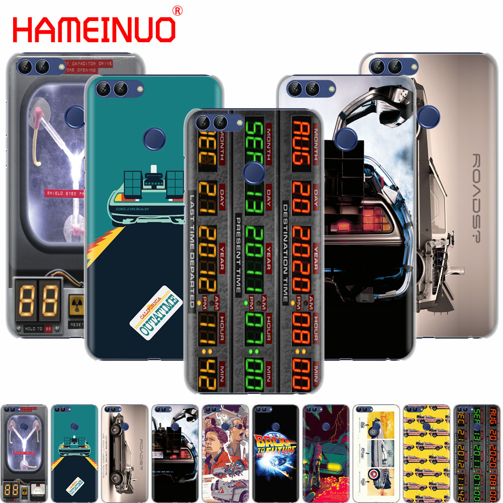 Back to the Future DeLorean Time Machine cell phone Cover Case for huawei Honor 7C Y5 Y625 Y635 Y6 Y7 Y9 2017 2018 Prime PRO