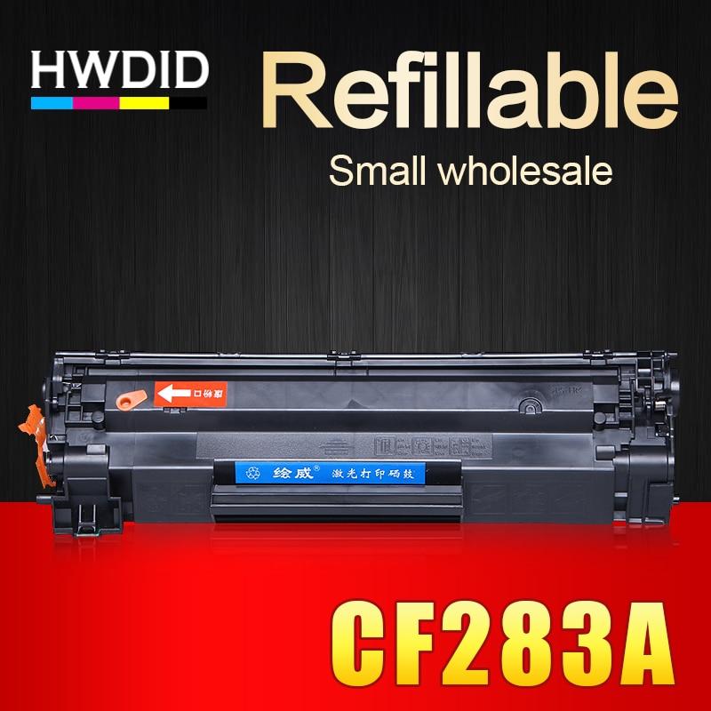 HWDID 1PCS CF283A 283A 283 83A compatible toner cartridge for HP Laserjet pro M127NF M126NF M125NW M125 M126 M127 M128 M201 M225 compatible high quality brand new toner cartridge cf283a for hplj promfp m125 m126 m127 m128 series printer 1 5k
