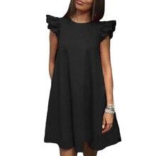 Для женщин летнее платье весна листьев лотоса рукав свободное платье модные Повседневное o Средства ухода за кожей Шеи красный, черный и белый Платья для женщин для Для женщин Vestidos