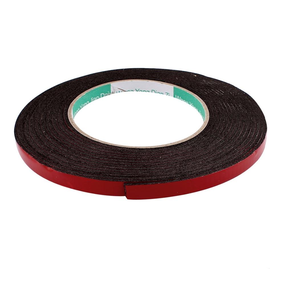 UXCELL 5M 8mm 12mm Red Double Sided Sponge Tape Adhesive Sticker Foam Glue Strip Sealing Sponge Foam Rubber Strip Neoprene Tape in Tape from Home Improvement
