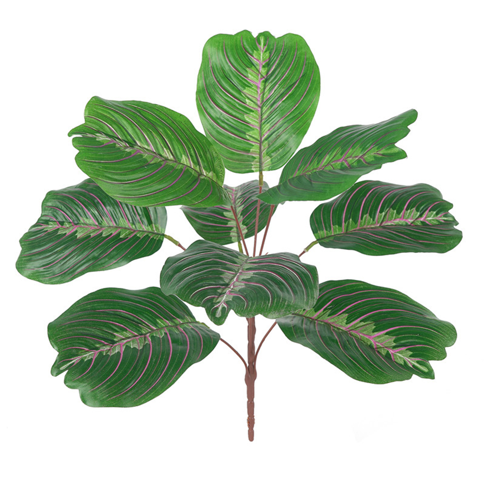 42cm Artificial Banana Leaves Plastic Green Plant Creative Simulation Lifelike Festival Decoration M18