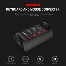 Mini 4-Port Desktop PG-9133 Mouse And Keyboard Extension HUB For Switch/PS4/XBOXONE Converter Exchange Adapter for pubg fps game controller keyboard and mouse 4 in 1 hub adapter for pis3 ps4 xbox one nintedfndo switch