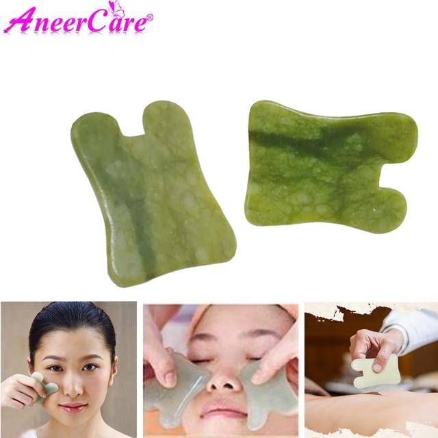 Natural Jade Facial Gouache Scratch Massager Facial Scraping Board     body Facial Eye Acupoint Massage Relaxing Health Care 1