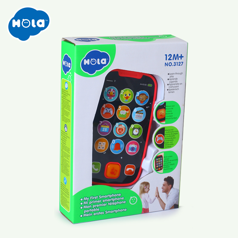 HOLA 3127 Baby Toy Learning Study Musical Sound Cell Phone Songs Animal Sounds Fun Toy Mobilephone Children Educational Toy
