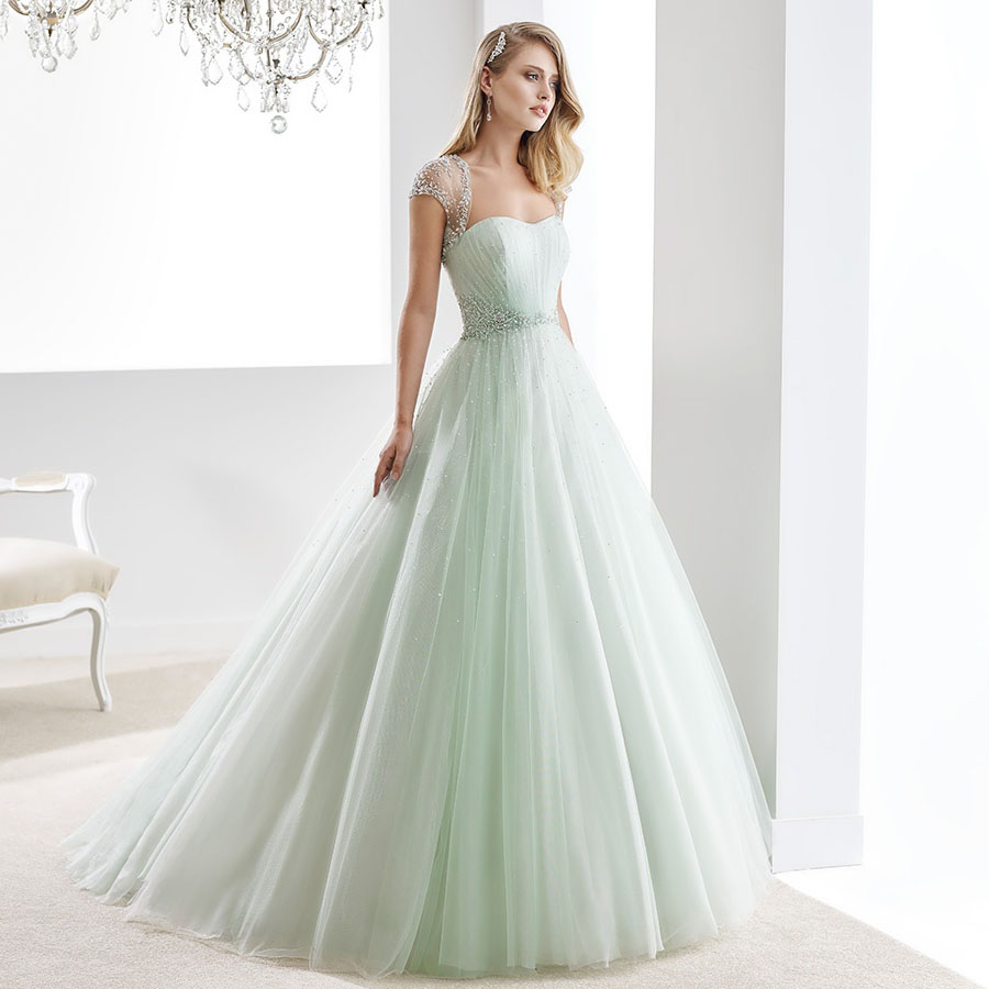 Wedding Green Wedding Dresses compare prices on mint green wedding dress online shoppingbuy w10138 shiny beading tulle strapless a line luxury empire with crystals vestido