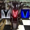3 цвета мотоциклетные X MAX XMAX 300 250 125 2017 2018 2019 фар головной индикатор свет лампы светодиодный свет для йамах аксессуары