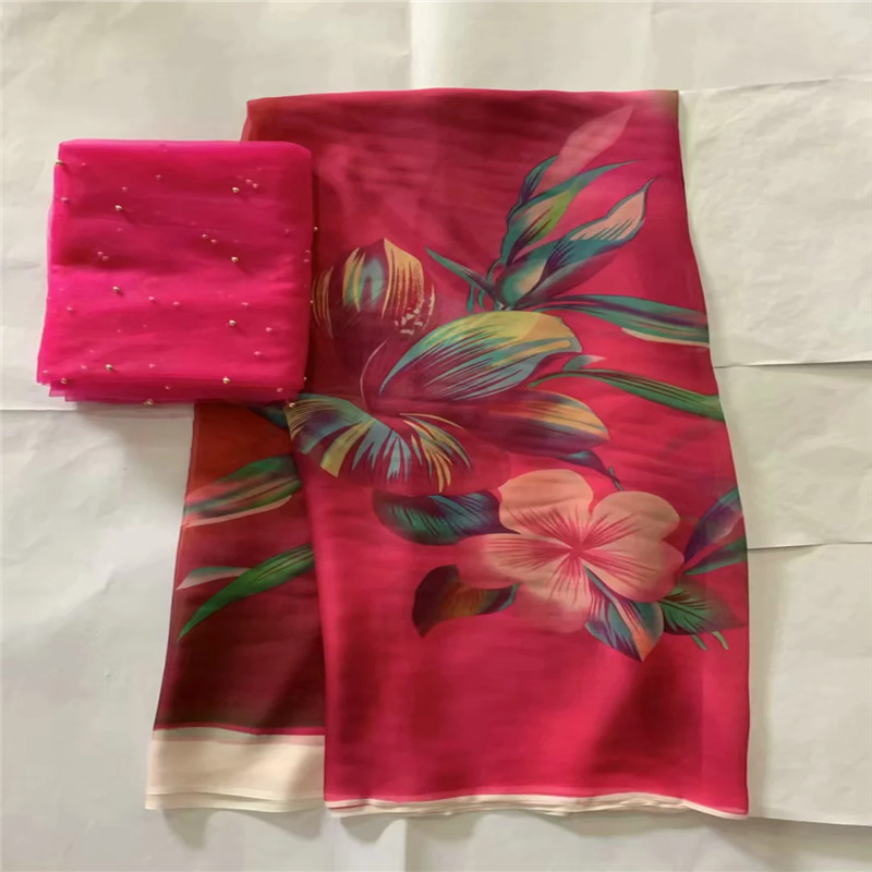 High quality silk fabric for lady dress embroidered george silk fabric African metallic silk fabric 114cm/8mm 7 yards LXE052708High quality silk fabric for lady dress embroidered george silk fabric African metallic silk fabric 114cm/8mm 7 yards LXE052708