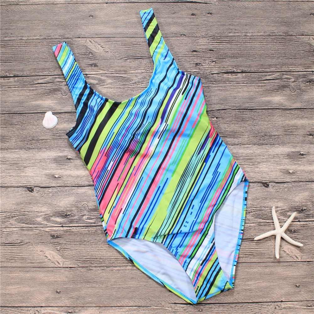 NIDALEE Новый бандажный спортивный купальник женский купальник с градиентным принтом без бретелек Цельный купальник с открытой спиной купальный костюм, монокини