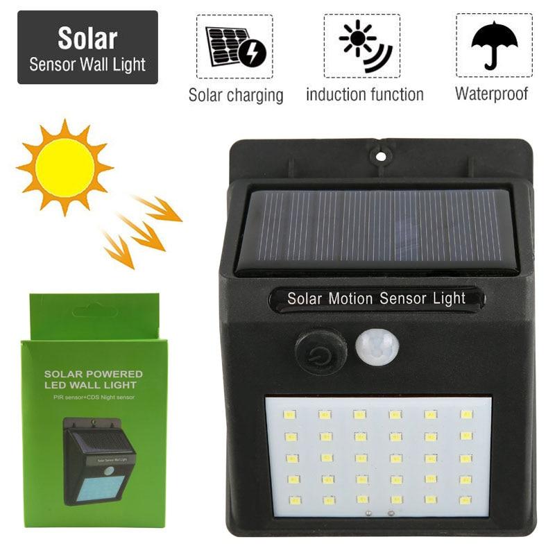 Impermeabile 30 LED di Alimentazione del Pannello Solare PIR Lampada Da Parete del Sensore di Movimento di Sicurezza Senza Fili di Percorso Yard Recinzione del Giardino Della Luce di Notte All'aperto