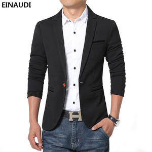 EINAUDI Casual Cotton Slim Suit Male Jacket Blazer For Men