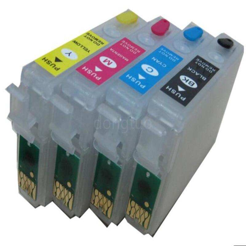 4PCS EMPTY for t1281 t1282 t1283 t1284 Refill Ink Cartridge FOR EPSON S22 SX125 SX130 SX235W SX420W SX440W SX430W printer