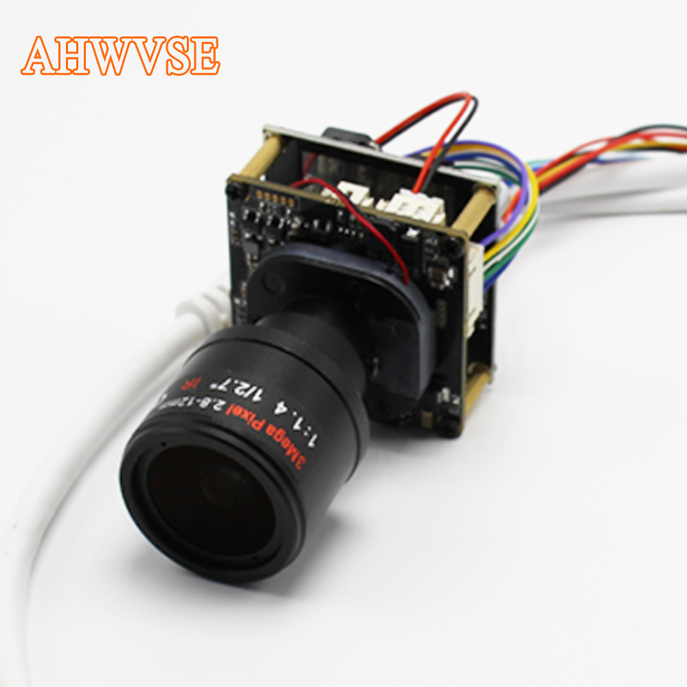 AHWVSE Hi3526C+IMX322 1920*1080P 25fps POE IP camera module board with 2.8-12mm Lens DIY Camera 720P 960P with LAN cable