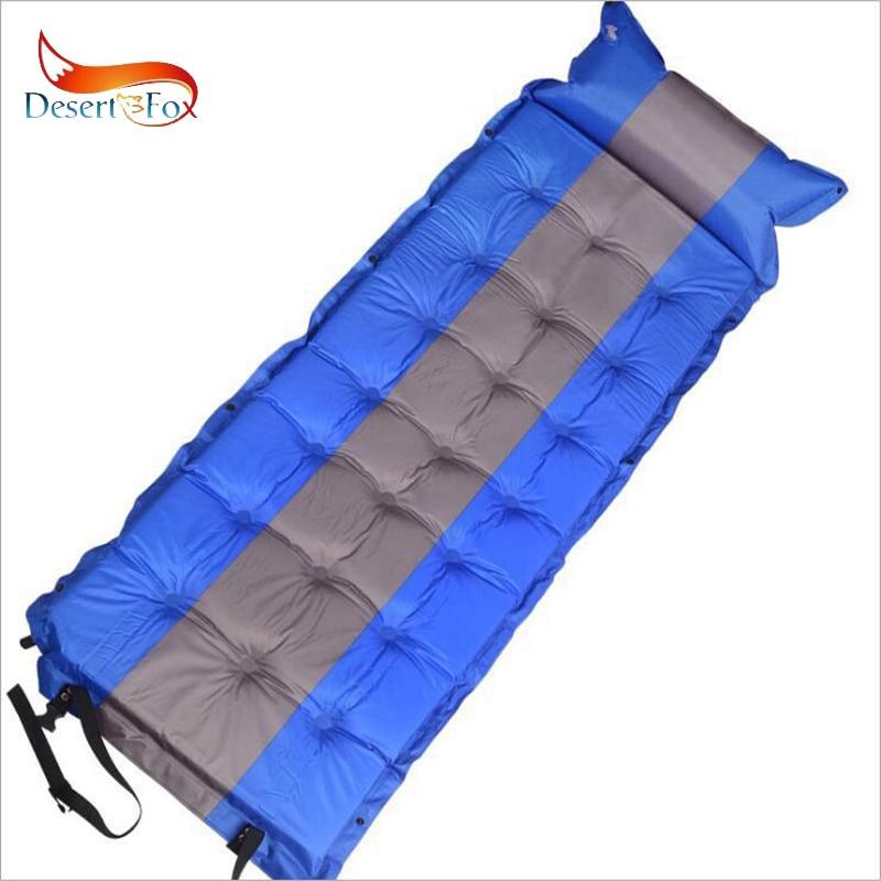 Desert Fox 186 x 62cm Self Inflating Sleeping Pads with Air Pillow Single Tent Air Mattress